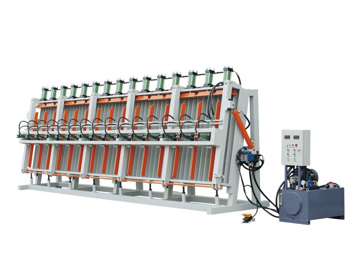 常规式单面液压拼板机性能特点有哪些